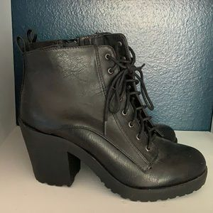 Stacked Heel Boots Size 8